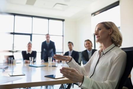 Business woman in boardroom