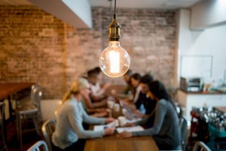 Lightbulb in businessmeeting
