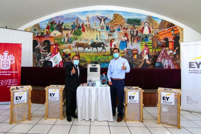 EY Perú realiza importante donación de concentradores de oxígeno a la Municipalidad Provincial de Arequipa