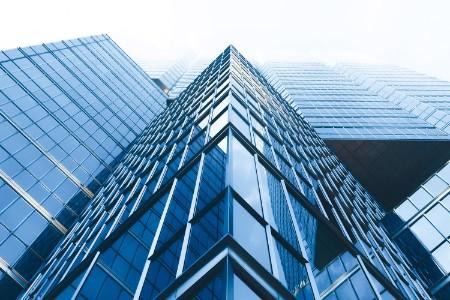 Buildings looked from below