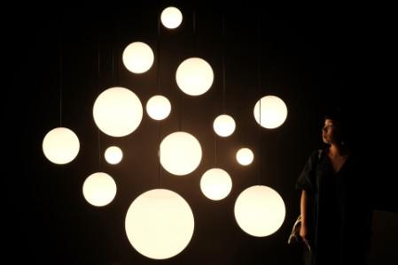 Light bulbs in darkness