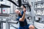 man building robot