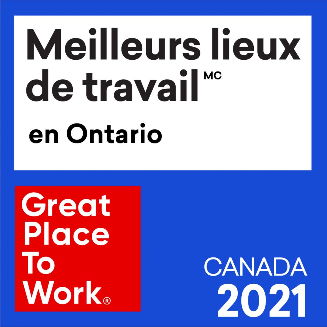EY – Meilleurs lieux de travail en Ontario