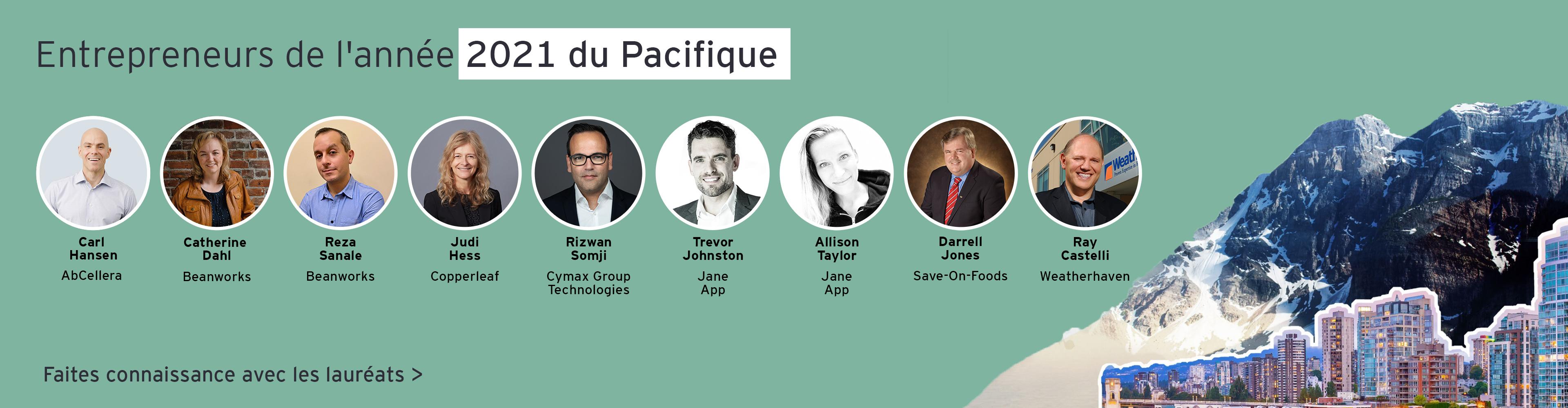 Entrepreneurs de l'année 2021 du Pacifique