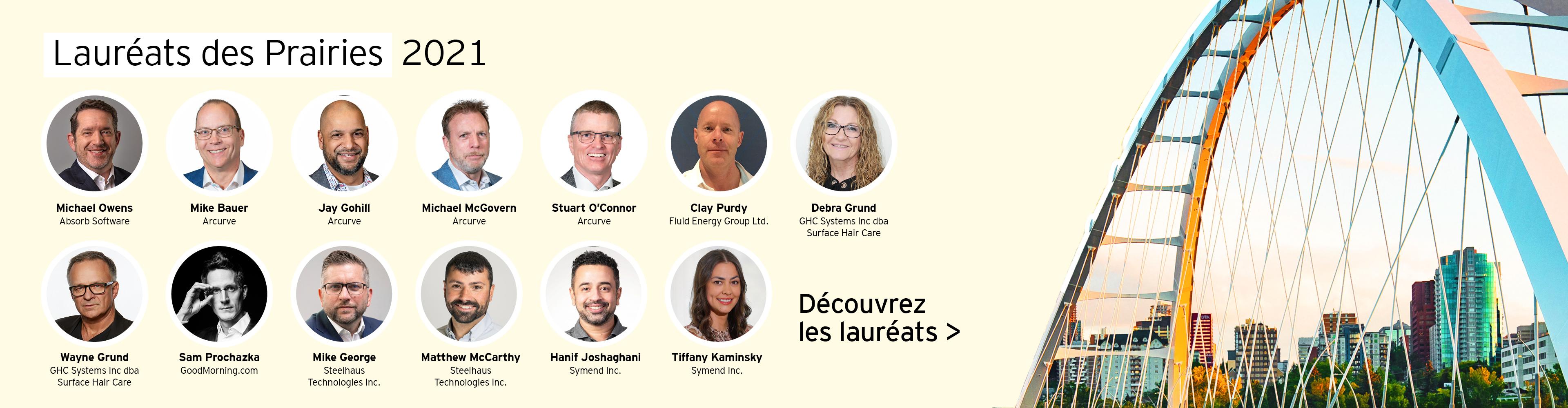 Entrepreneurs de l'année 2021 des Prairies