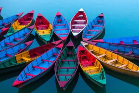 Multicolor boat