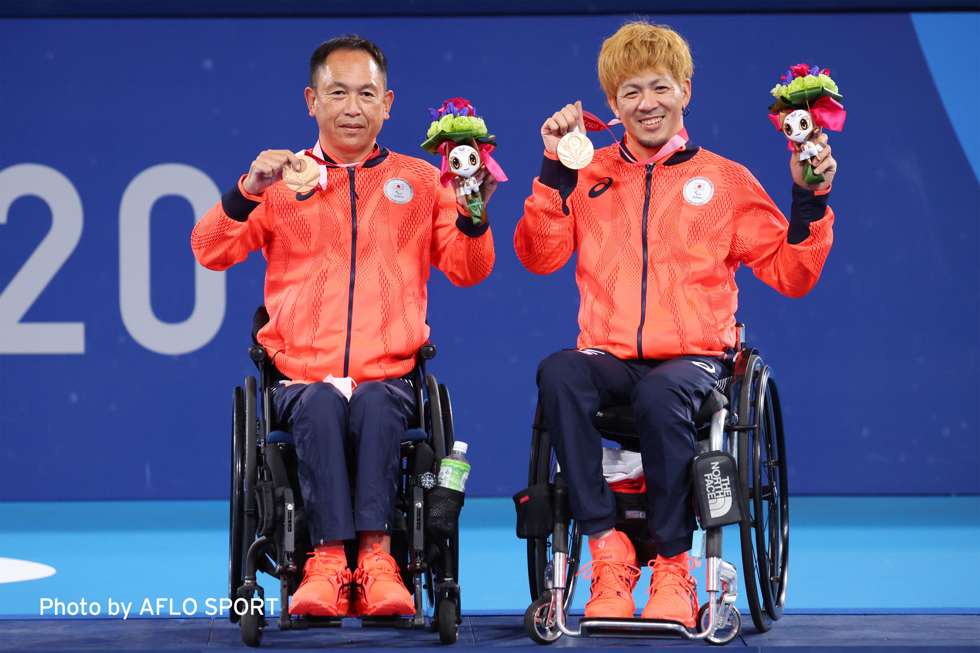EY Japan所属 諸石光照選手の東京2020パラリンピック銅メダル獲得のお知らせ 日本(諸石光照選手、菅野浩二選手)