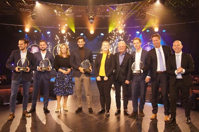 Stijn Nijhuis (Enreach) en Milan Daniels (Otrium) ondernemers van het jaar 2021