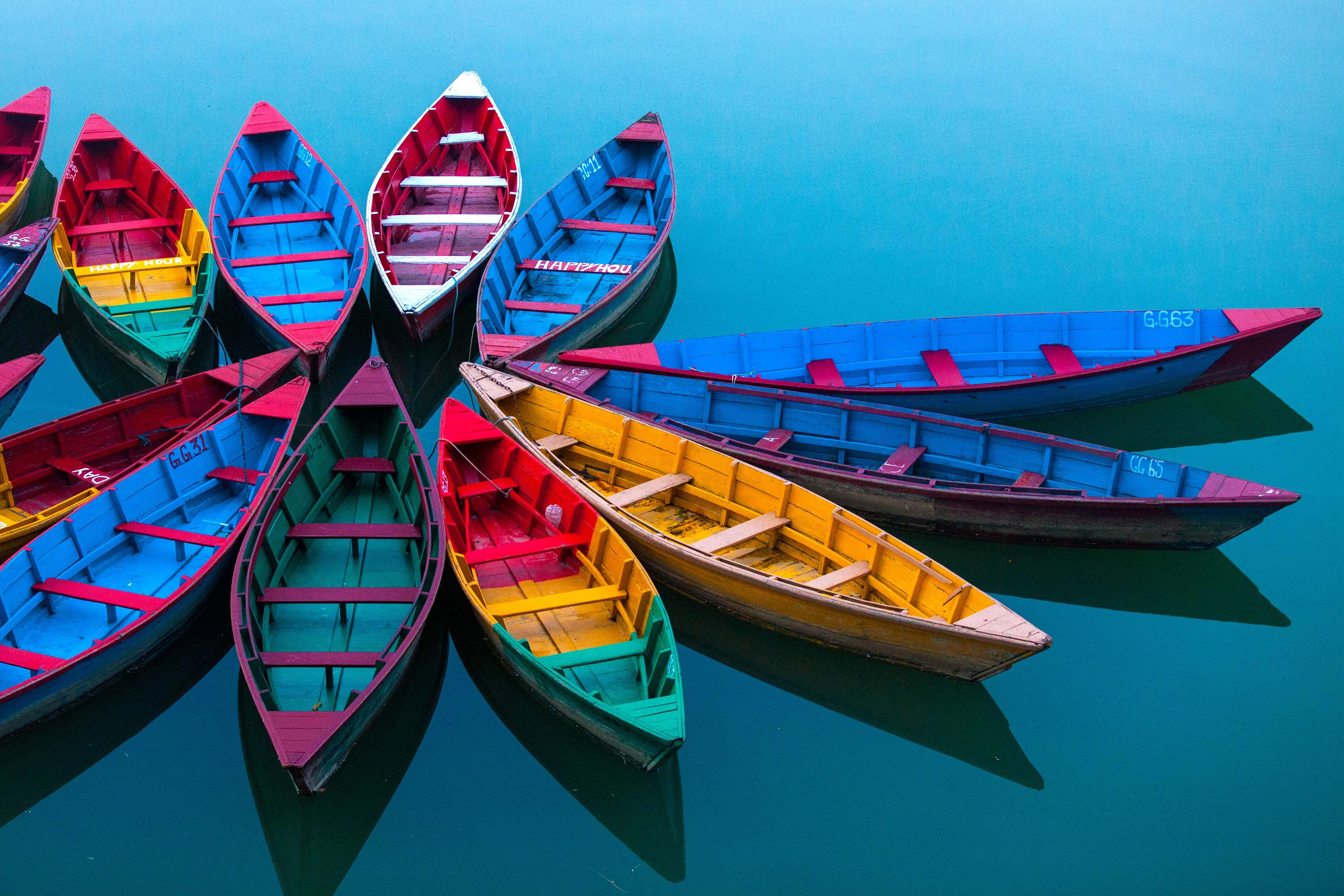 Kleurrijke bootjes