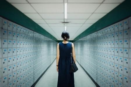 Women in locker room