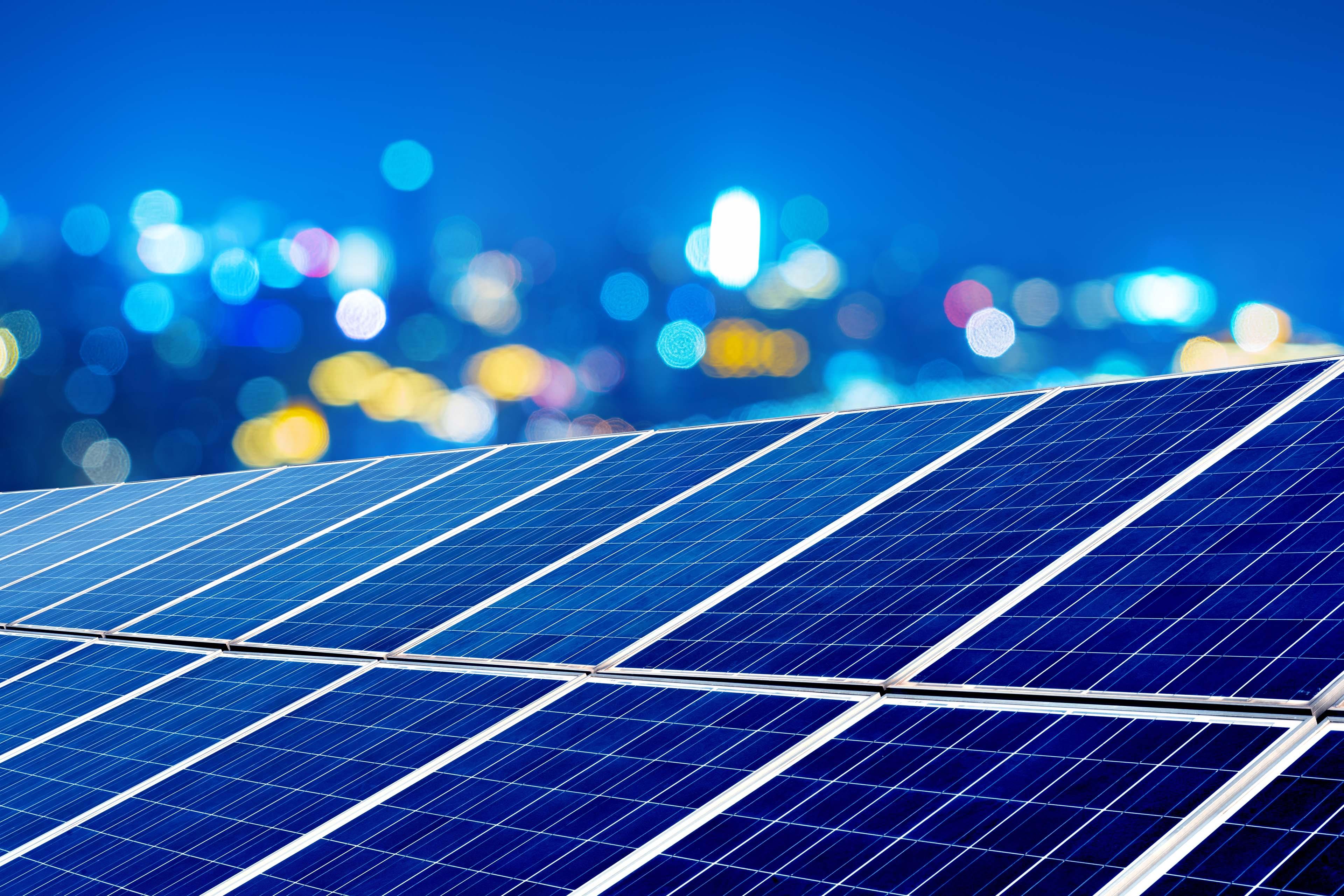 Energy resources - solar panel