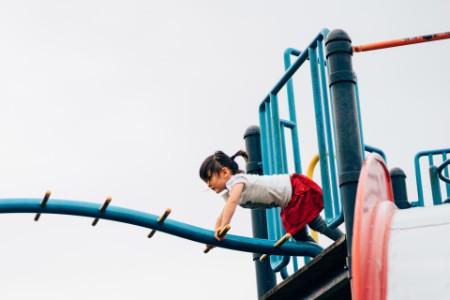 EY little girl participated in adventurous stunts