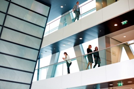 Interior view of an office building
