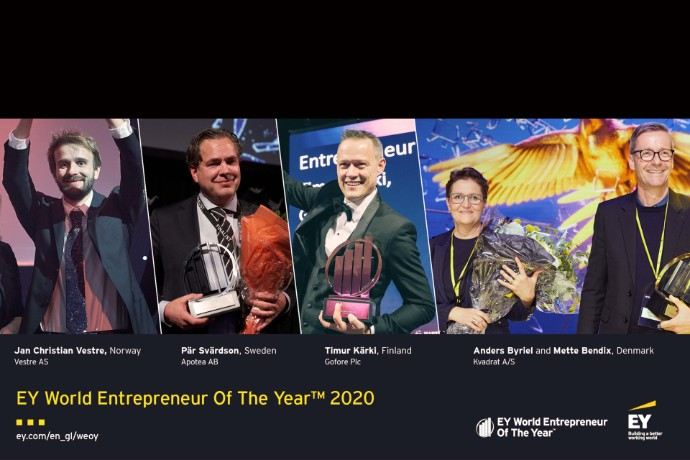 Nordic winners ready for EY World Entrepreneur Of The Year 2020