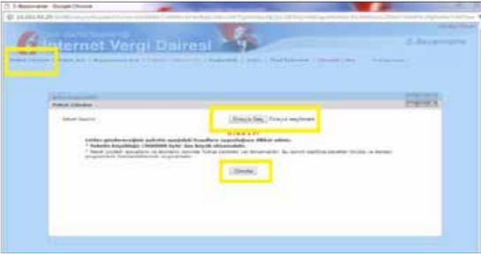Görsel: İnternet vergi dairesi şifre girişi