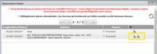 Görsel: İnternet vergi dairesi döküm alımı