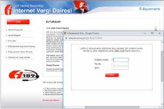 Görsel: İnternet vergi dairesi paket gönderme
