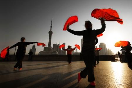 传统的中国广场舞