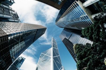 Contemporary corporate skyscrapers